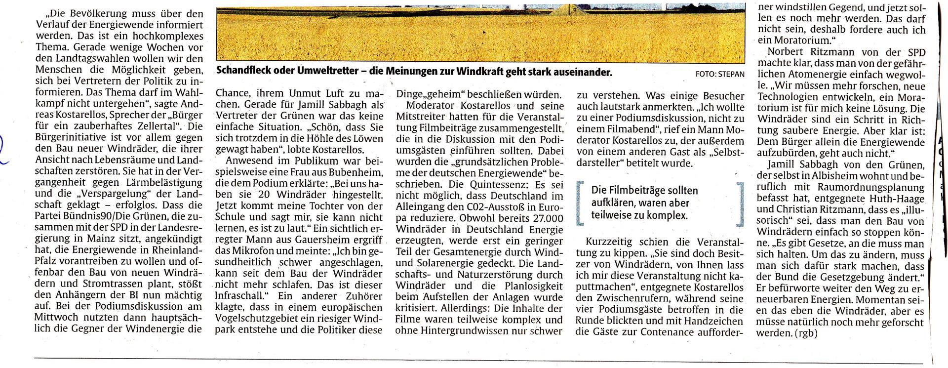 Rheinpfalz 20.2.2016 Veranstaltung Kibo 1